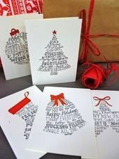 Shapes Christmas Cards Pack of 10 Cards  Etsy  Geschenke schön verpacken Word Shapes Christmas Cards Pack of 10 Cards  Etsy  Geschenke schön verpacken  Word Sha...