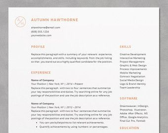 Resume Template Word Mac Magnificent Resume Template Professional And Modern Resume  Cv Template For .