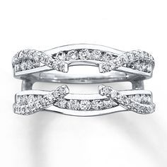 may compliment my princess engagement ring beautifully love with princess cut diamond solitaire diamond enhancer ring ct tw round cut white gold - Wedding Ring Jackets
