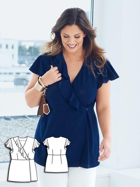 Closet Swap: 14 New Plus Size Women\'s Sewing Patterns | DIY Clothes ...