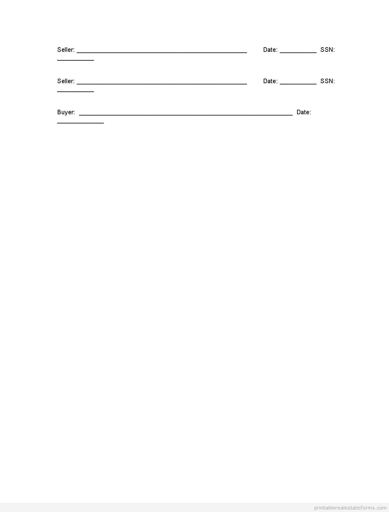 Printable BUYING Monster Purchase and Sale Agreement