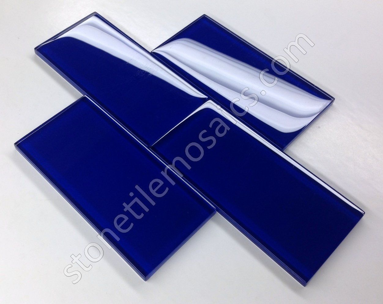 Premium Quality Cobalt Blue 3x6 Glass Subway Tile for Bathroom Walls ...