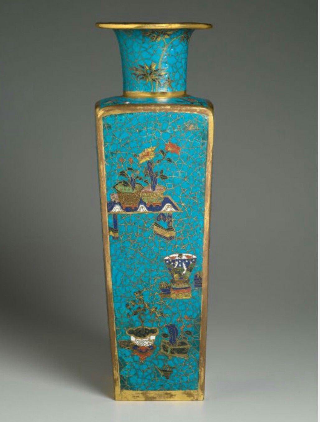 Chinese cloisonne vase antique jingtai sp blue chinese cloisonne vase antique jingtai sp blue reviewsmspy