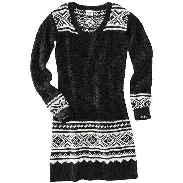 Mossimo Supply Co. Juniors Fairisle Sweater Dress Assorted Colors ...