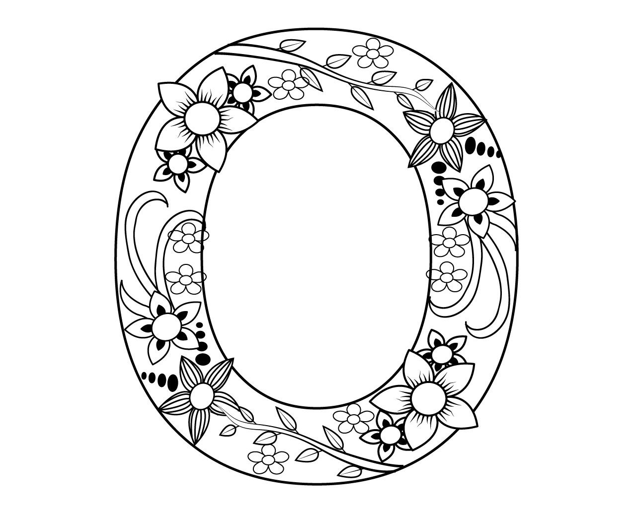 Printable Letter O Coloring Pages To Print