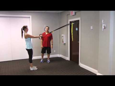 here's a lunge modification exercise called suspension