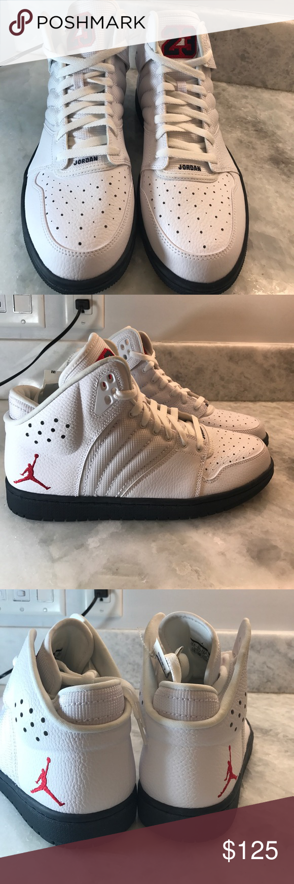 981115ff92f JORDAN 1 FLIGHT 4 PREMIUM MENS 10 1/2. NWT STYLE # 838818 164. Leather  Jordan's 23 white NWT. P53bag Nike Shoes Sneakers