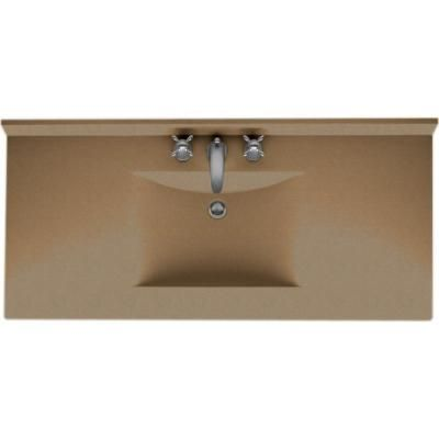 Swan Contour 43 In Solid Surface Vanity Top In Barley With Barley