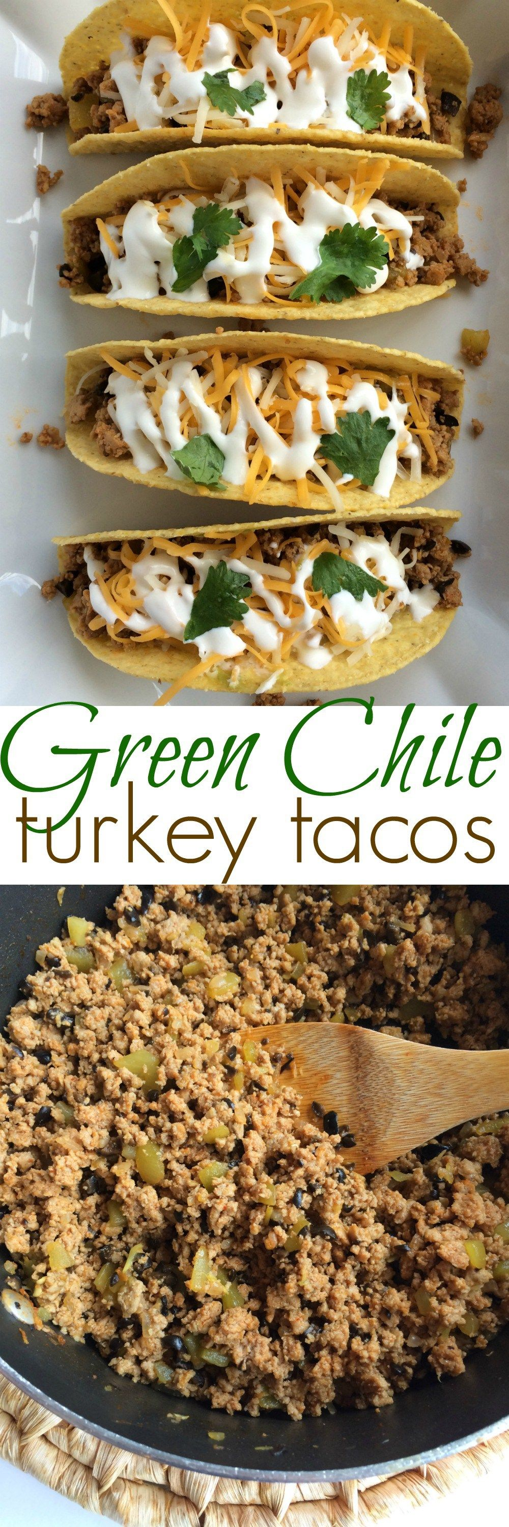 Green Chile Turkey Tacos | Together as Family #groundturkeytacos