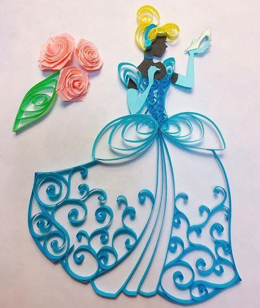 Kvilling Volshebstvo Bumazhnyh Polosok Disney Princesses Etc