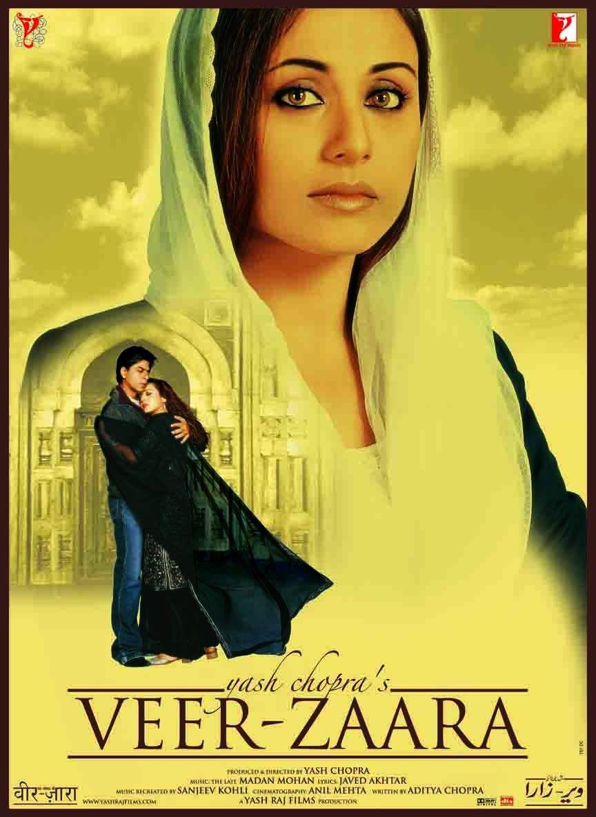 Veer Zaara 2004 Veer Zaara Bollywood Genre Free Bollywood Movies Hindi Movies Bollywood Posters