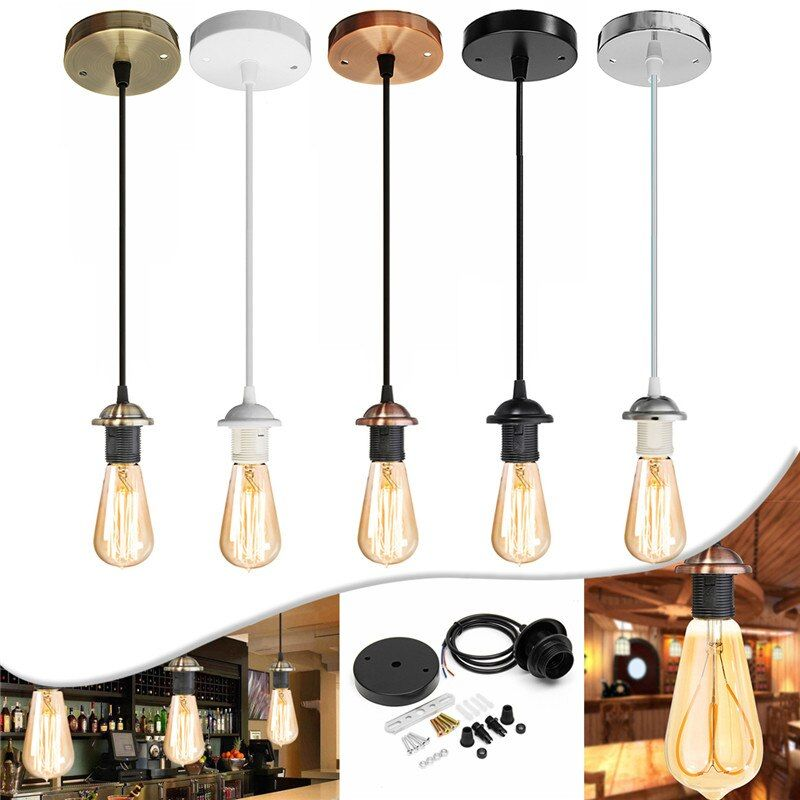 Vintage Edison Lamp Base E27 Screw Ceiling Rose Light Pendant Light Holder E27 Screw Socket Base For Retro Incandescent Ac110v Aliexpress In 2020 Iron Chandeliers Ceiling Lamp Vintage Edison Lamp
