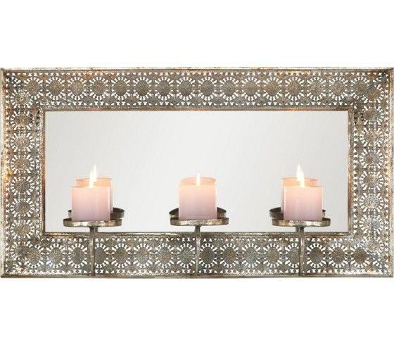 Extravaganter Spiegel mit Kerzenhaltern - elegant und mit Stil
