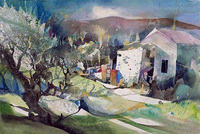 Bernhard Vogel Watercolors Google Search Watercolor Canvas