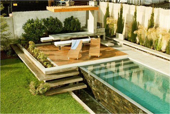 Quincho piedra roja very nice pool pinteres for Pileta jardin pequeno