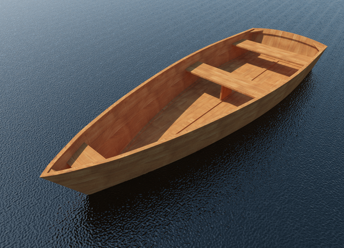 Build your own 11' X 3' Wooden Row Boat (DIY Plans) Fun to ...