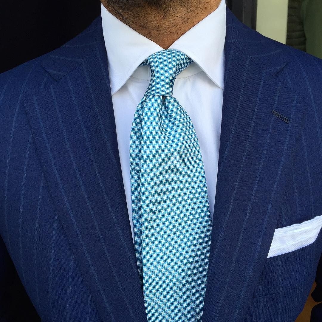 "946 Likes, 7 Comments - VIOLA MILANO (@violamilano) on Instagram: ""The perfect match by @suitwhisper ➡ Viola Milano ""Star Pattern self-tip silk - Turquoise"" tie &…"""
