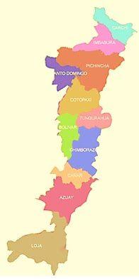 Ecuador Provincias Y Capitales De La Sierra Provincias Del Ecuador Provincia Carpetas Decoradas Para Bebes