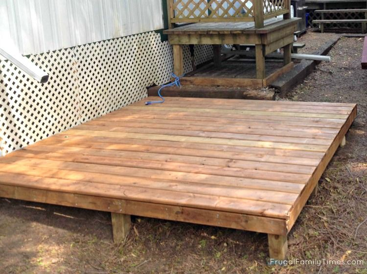 How to make a hot tub deck for 250 and 2 hours work (for