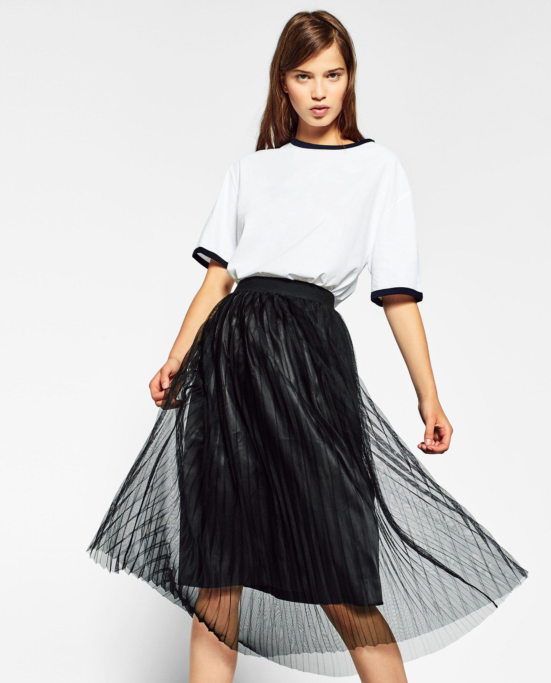 Imagen 1 de FALDA MINI TUL de Zara | FELPA W16 | Faldas