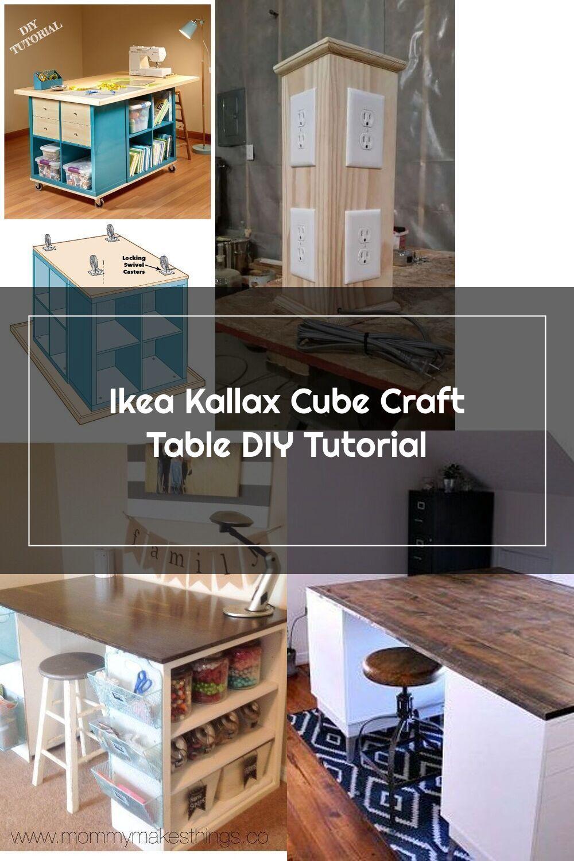 Ikea Kallax Cube Craft Table Diy Tutorial In 2020 Craft Table Diy Craft Table Diy Table