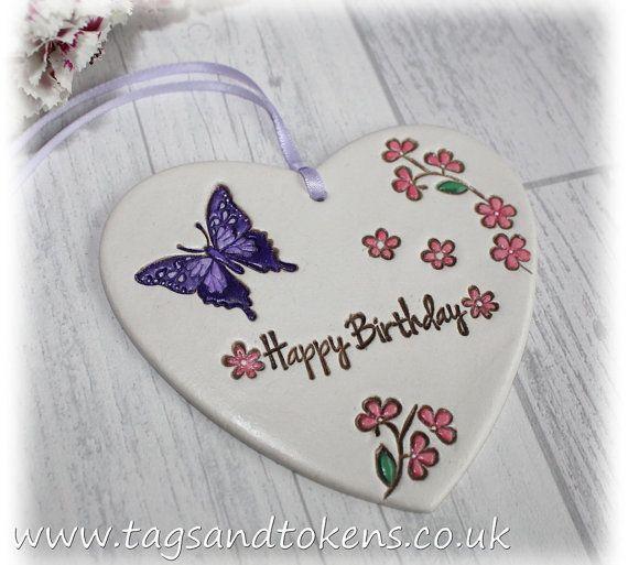 Hanging Heart Birthday Gift Or Alternative Birthday Card Saying