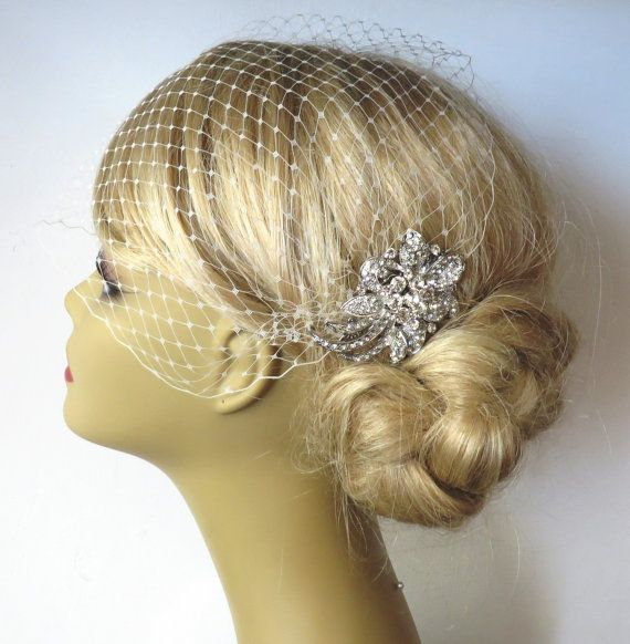 Vintage Wedding Hairstyles With Birdcage Veil: Pin By Amanda Glover On Bridal Shower Hats
