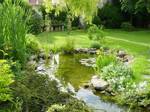 Estanque jardin buscar con google estanque pinterest - Jardin con estanque ...