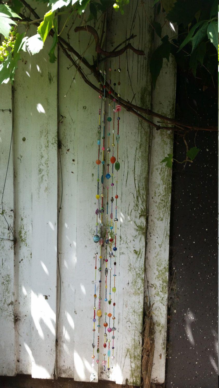 Beaded wall hanging door craftsbymischa op Etsy
