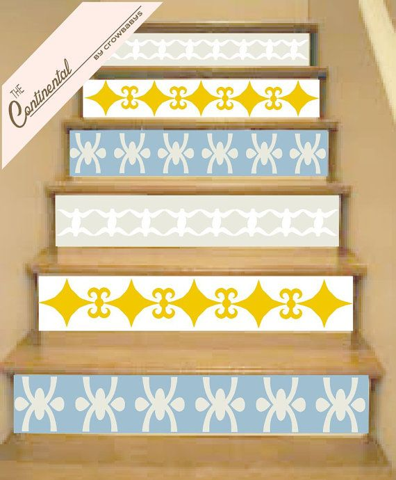 Vinyl Stair Decals . by crowbabys #stairs stair ideas | Decor ...
