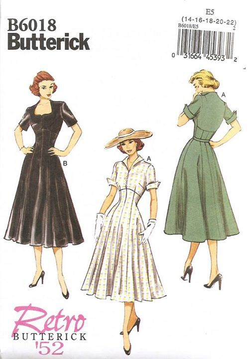 Butterick 6018 Copyright 1952. This is a reprint.