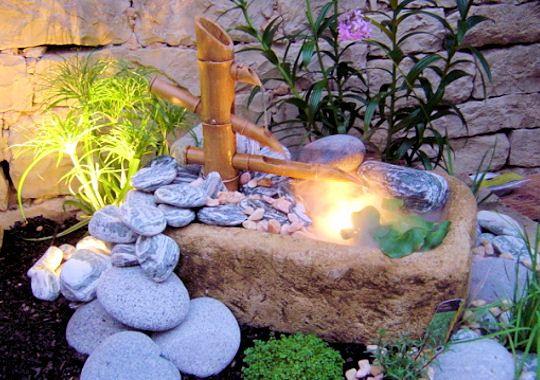 Lumiere Et Bambou Jardins Zen Et Arrangements Pinterest Bambou