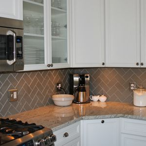 Lush 3x6 Glass Subway Tile Taupe Gray Beige Possible Kitchen