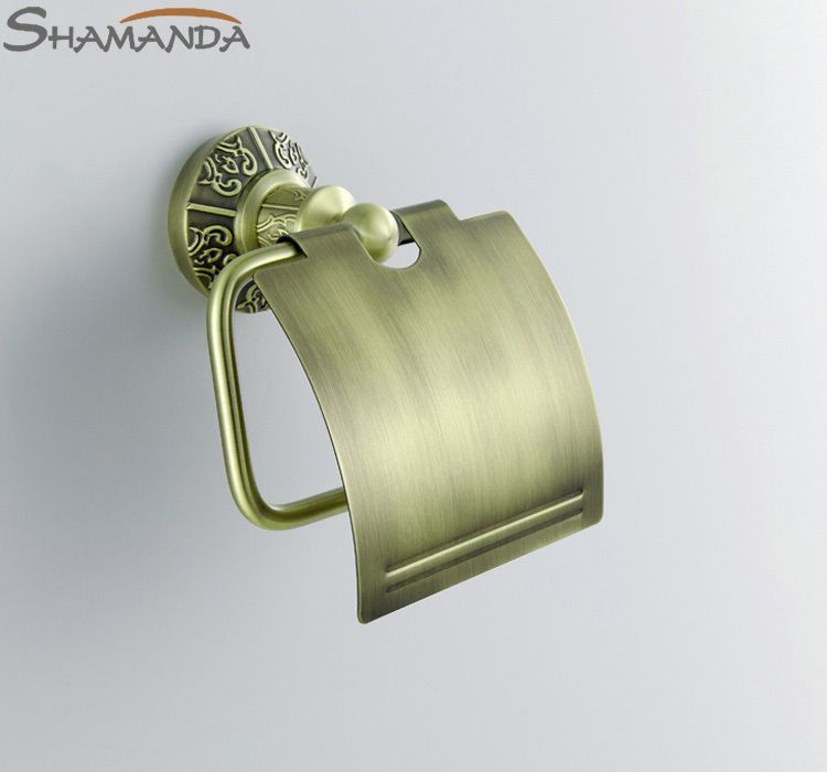 Real Free Shipping Solid Br Bronze Finished Toilet Paper Holder With Cover Bathroom Accessories Products