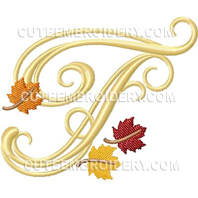 Free Embroidery Design: Letter T | Embroidery and Machine Embroidery ...