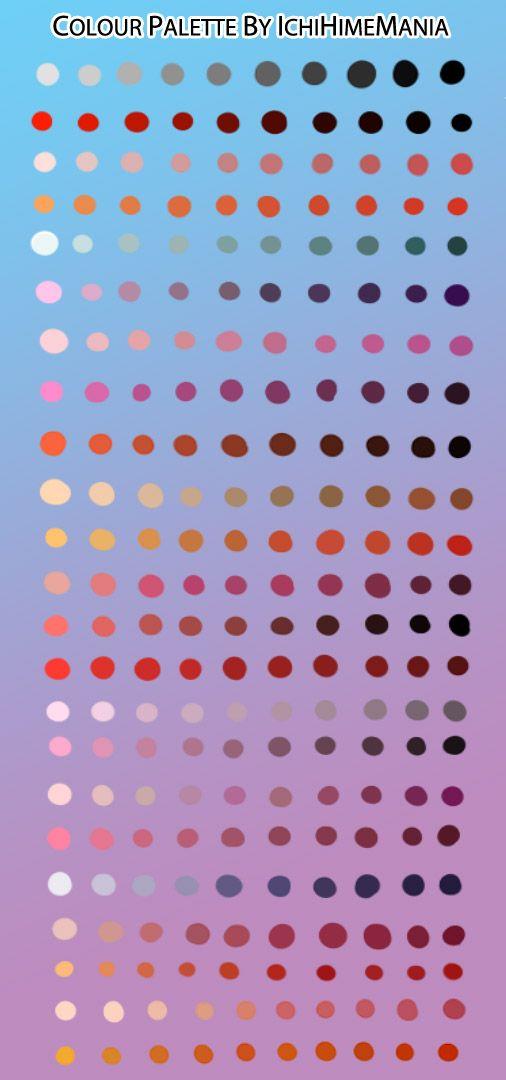Color Palette Art Color Palettes Misc Tuts Drawing Challenge