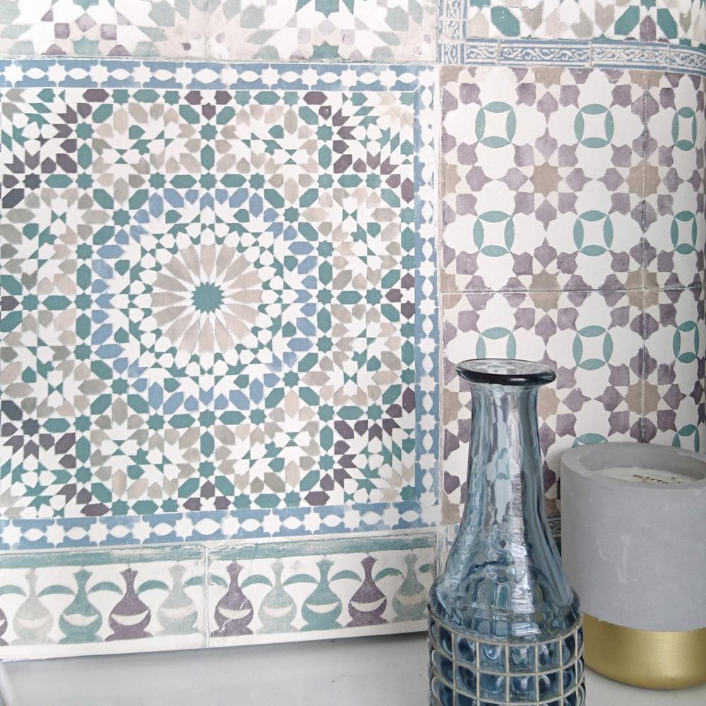 Marrakesh Moroccan Reclaimed Mosaic Tile Wallpaper
