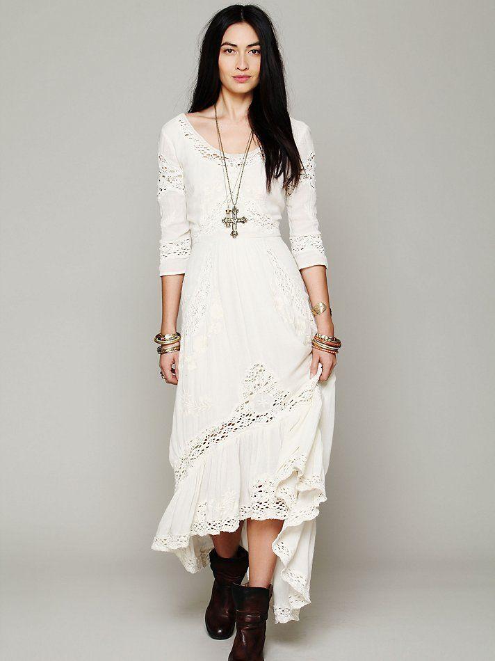 Boho mexican wedding dress