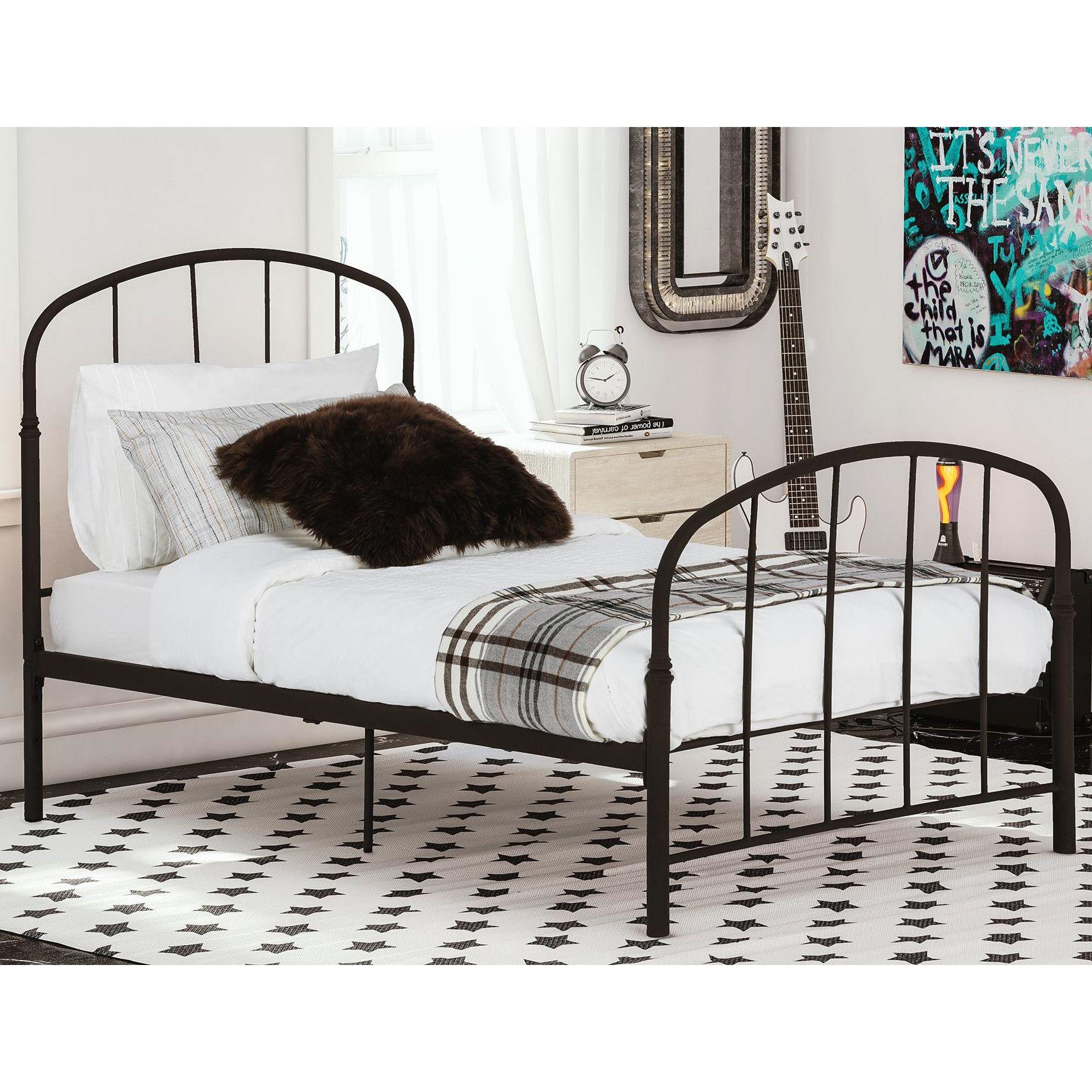 Viv Rae Oliver Twin Metal Bed Bed White Bed Frame Metal Beds