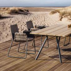 esstisch teso 150 95 cm mit egelstahlgestell anthrazit beschichtet von fischer m bel. Black Bedroom Furniture Sets. Home Design Ideas