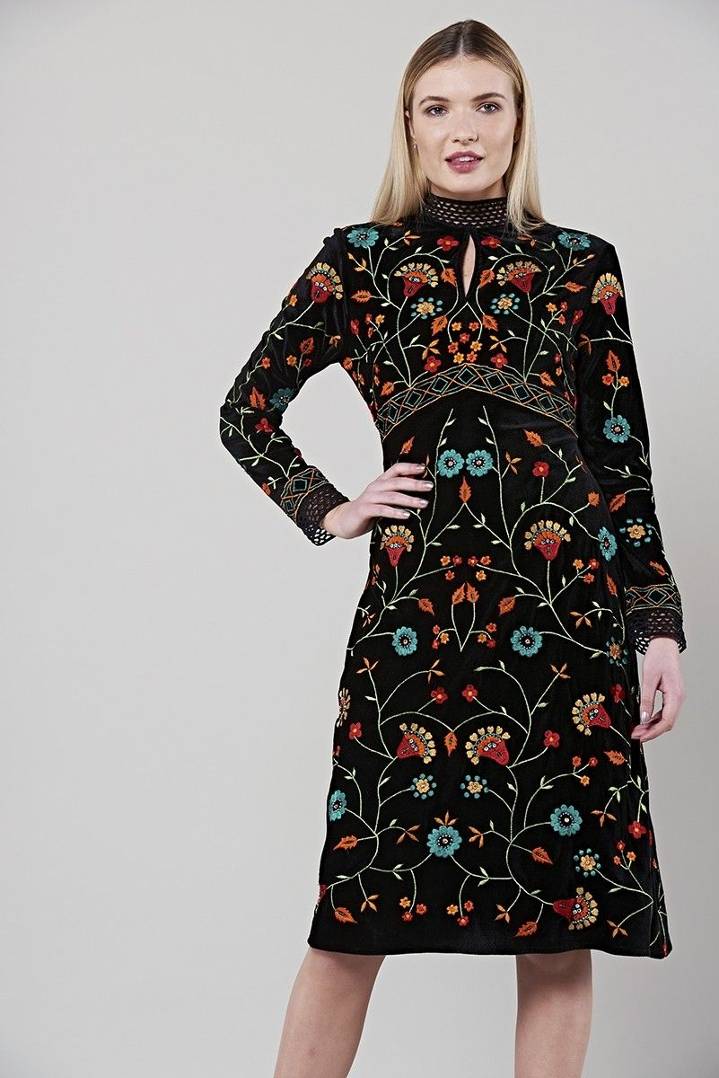 Dakota High Neck Embroidered Midi Dress At Frock And Frill Https Frockandfrill Com New In Dakota High Embroidered Midi Dress Embroidered Party Dress Dresses [ 1200 x 801 Pixel ]
