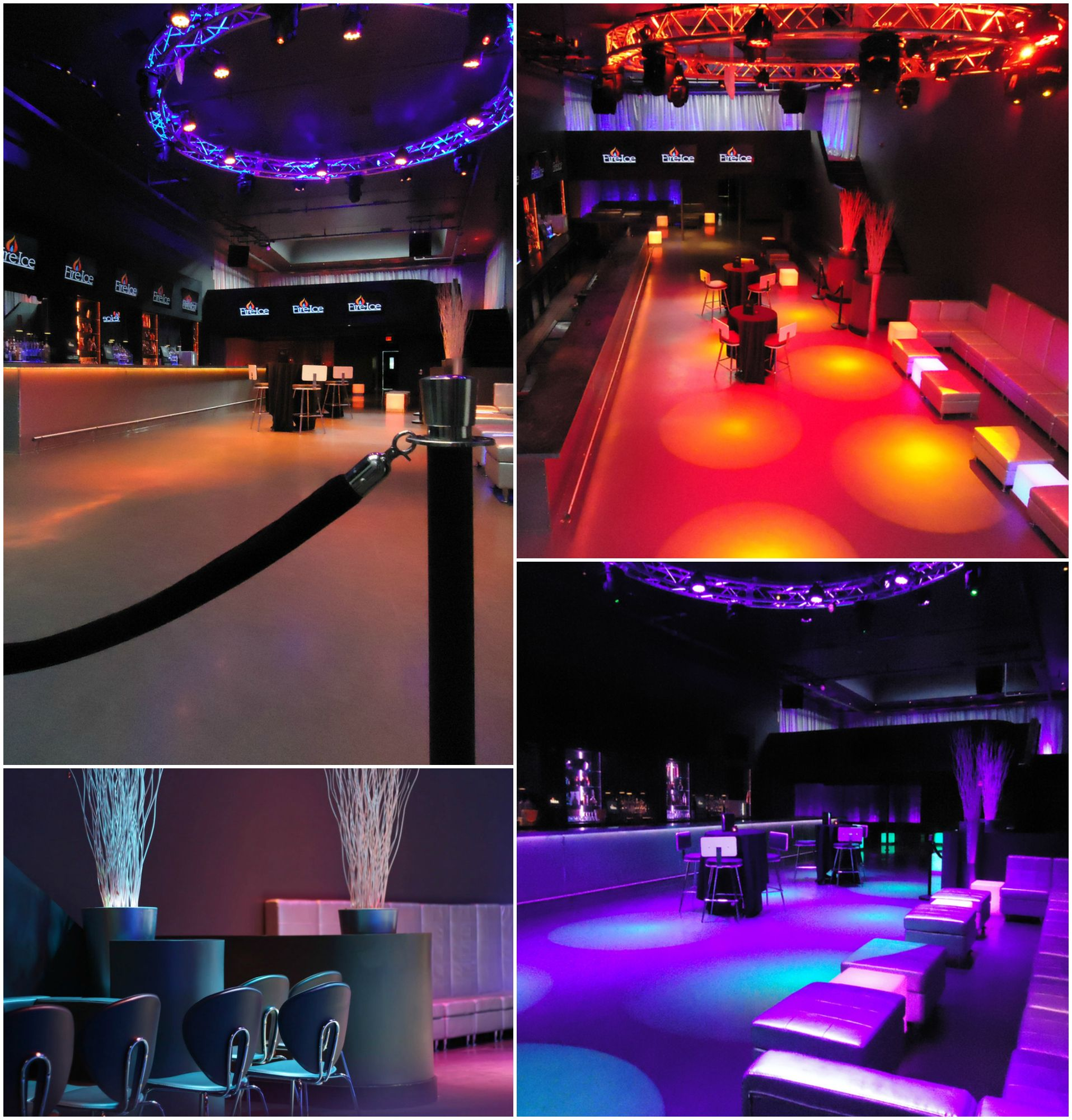 The Fire And Ice Event Hall Is Available For All Types Of Parties From Sweet Sixteens Business Happy Hours Holiday Pa Fire Ice Restaurant Bar Lounge Restaurant Bar