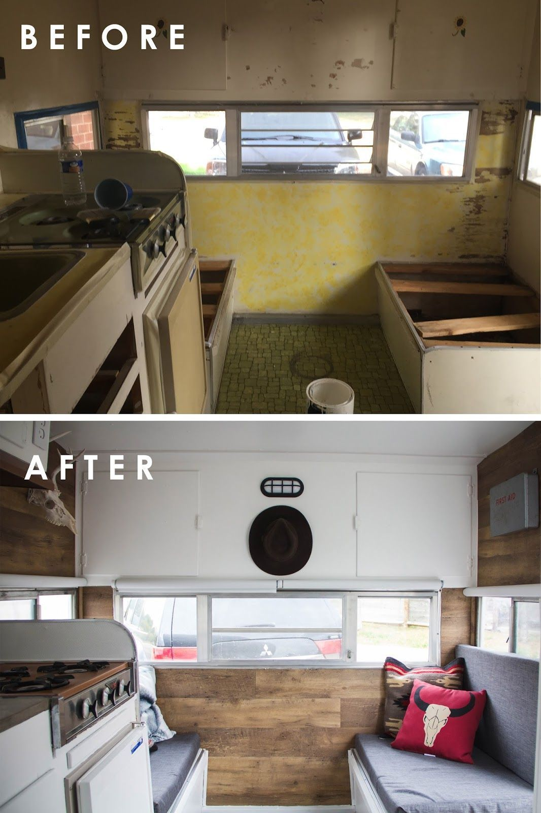 90 Awesome Painting Camper Rv Cabinets Ideas Remodeled Campers