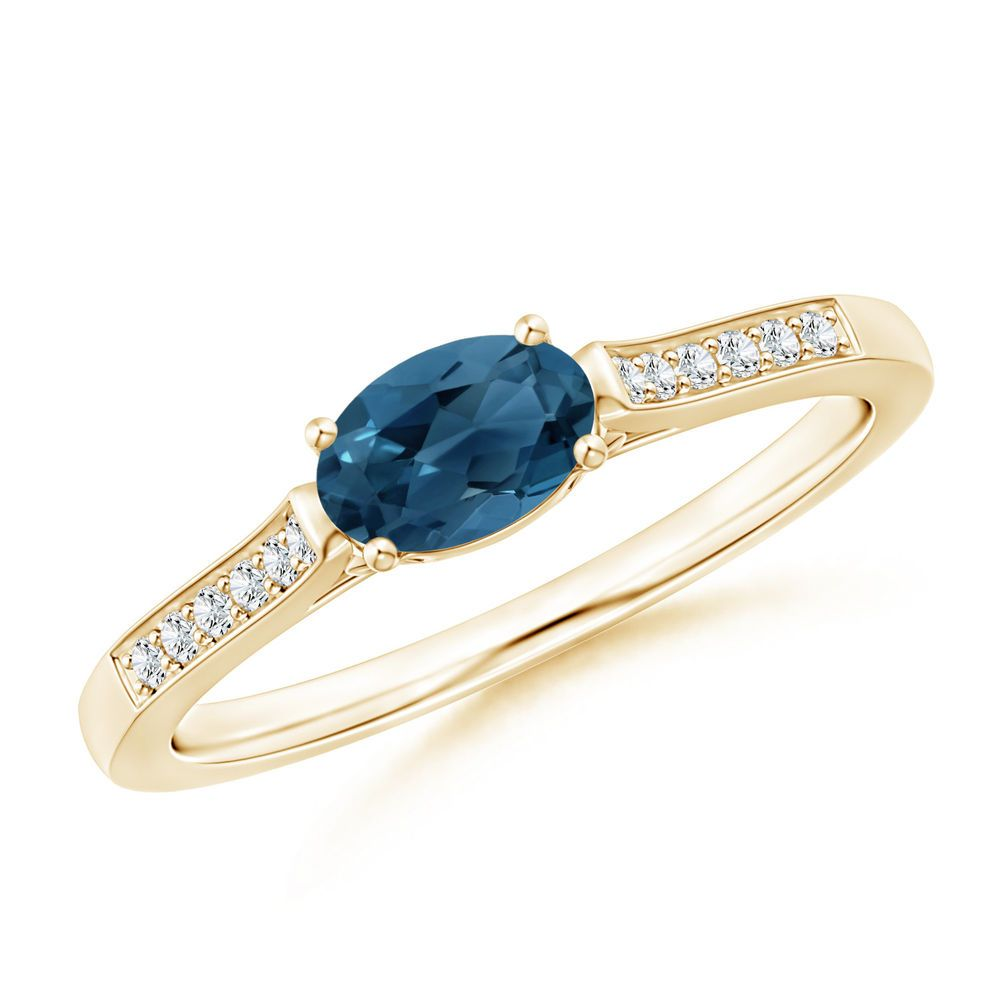 Angara Natural London Blue Topaz Solitaire Ring in Platinum fDeyhTD9si