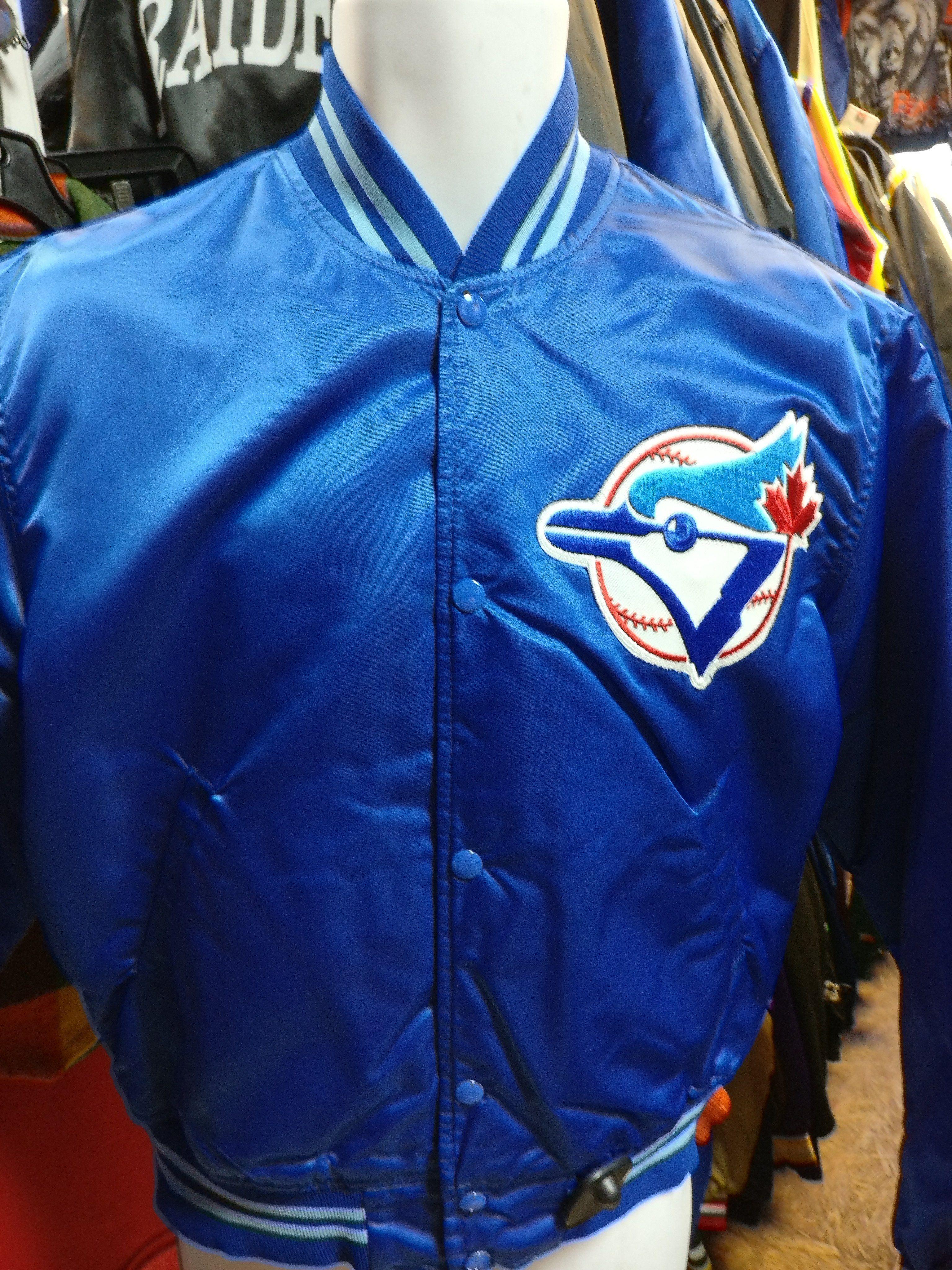 48b7372d Vintage 80s TORONTO BLUE JAYS MLB Starter Nylon Jacket M (Mint ...