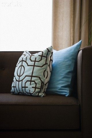 Peachy Blue Pillows For Our Couch Ideas Cushion Chocolate Alphanode Cool Chair Designs And Ideas Alphanodeonline