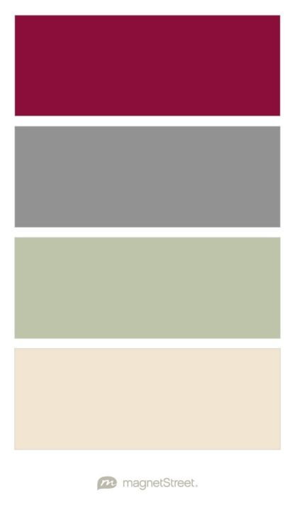 Burgundy Classic Gray Sage And Champagne Wedding Color Palette