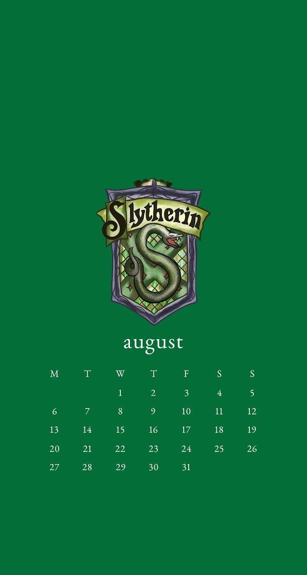 August 2018 Calendar Wallpaper Iphone Harry Potter Slytherin Slytherin Harry Potter Wallpaper Harry Potter Pictures