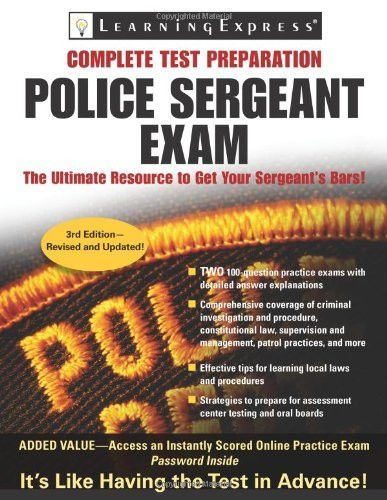 Police Sergeant Exam Police Sergeant Exam Learning Express