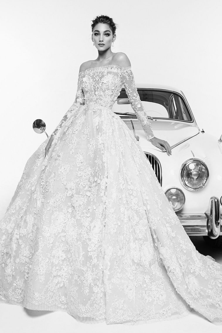 Elegant Off the shoulder wedding dress inspiration